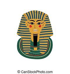 埋葬, 古代, tutankhamun, エジプト, ファラオ, イラスト, マスク, ベクトル