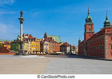 城堡, 廣場, 在, 華沙