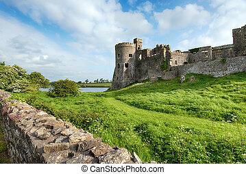 城堡, carew, pembrokeshire