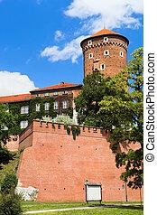 城堡, wawer, 皇家, 防御工事