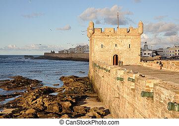 城墙, 在中, essaouria, 摩洛哥, 非洲
