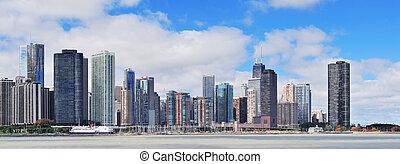 城市地平線, 芝加哥, 城市, 全景
