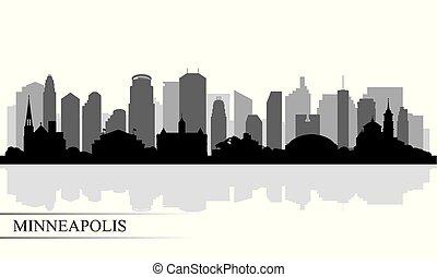 城市地平線, 黑色半面畫像, minneapolis, 背景