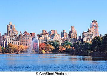 城市, 中央公園, 約克, 新, 曼哈頓
