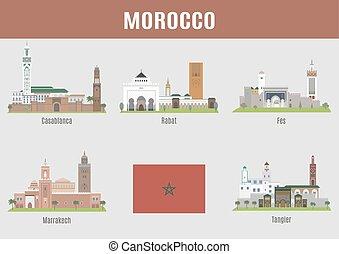城市, 在中, 摩洛哥