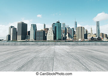 城市, 明亮, 背景