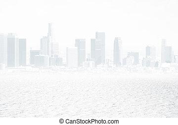 城市, 白色, 背景