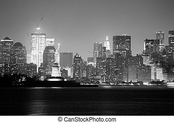 城市, 白色, 黑色, 約克, 新