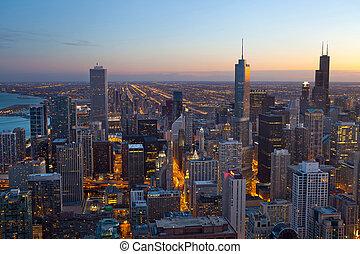 城市, ......的, chicago.