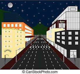 城市, 瞥見, 鮮艷