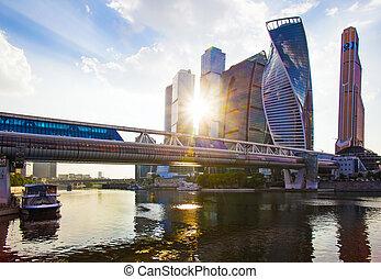 城市, 莫斯科, -, 中心, 事務