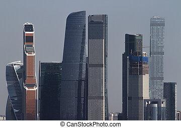 城市, 莫斯科, 牆紙, 城市