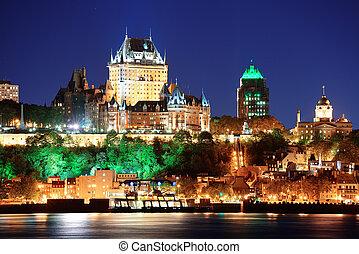 城市, 魁北克, 夜晚