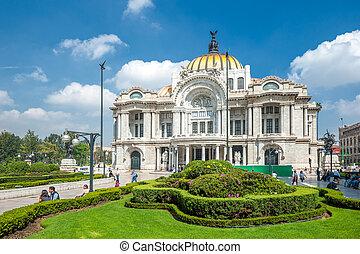 城市, artes, 墨西哥, de, palacio, bellas