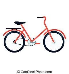 城市, bycicle, 运输