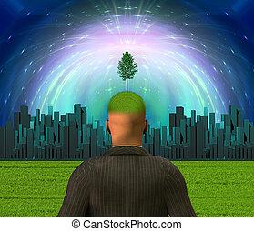 城市, eco, 頭腦