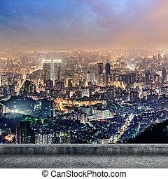 城市, taipei, 夜晚