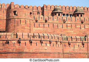 城砦, agra, インド, pradesh, uttar