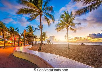 城砦lauderdale, 浜, フロリダ