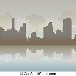 城鎮側面影象