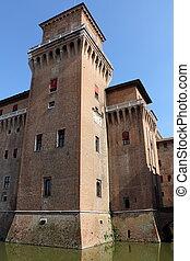 城, イタリア, ferrara, estense