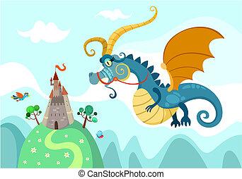 城, ドラゴン