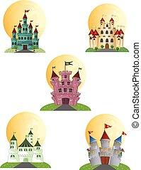 城, ベクトル, デザイン, あなたの