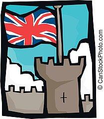 城, 旗, イギリス