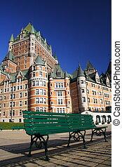 城, city., ケベック, frontenac
