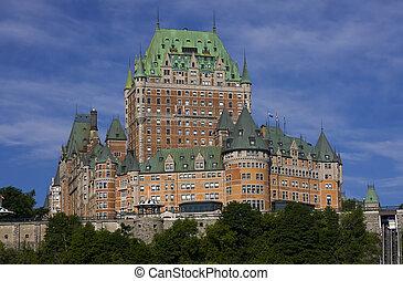 城 frontenac, 中に, ケベック 都市, カナダ