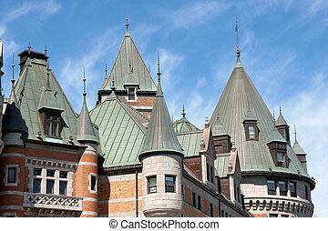 城 frontenac, 中に, ケベック 都市