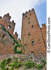 城, italy., castell'arquato., emilia-romagna.