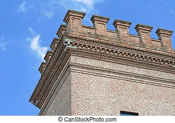 城, italy., mesola., emilia-romagna.