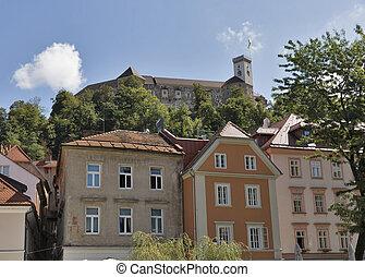 城, slovenia., ljubljana, 中世