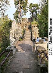 城, valdstejn, 中に, チェコ共和国