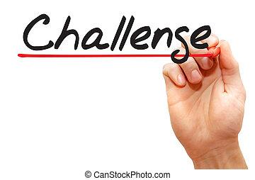 執筆, ビジネス, 挑戦, 手, 概念