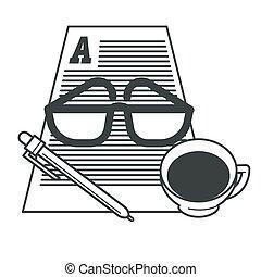 執筆, ペーパー コップ, コーヒー, storytelling, 道具, 作家, 仕事