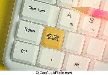 執筆, 手書き, 商品, キー, キーボード, 付属品, 意味, 取り決められた, 概念, お金, 別, 親類, 増加, space., コピー, テキスト, ボリューム, 有色人種, 空, 利用できる, inflation.