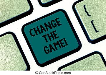 執筆, 新しい, キー, テキスト, 何か, 作りなさい, アイロンかけ, 作成しなさい, 意味, 動き, 概念, キーボード, intention, game., メッセージ, idea., コンピュータ, キーパッド, 変化しなさい, 手書き, 作戦, 別