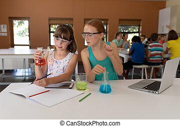 基本, 女の子, 学校, 化学, 2, クラス