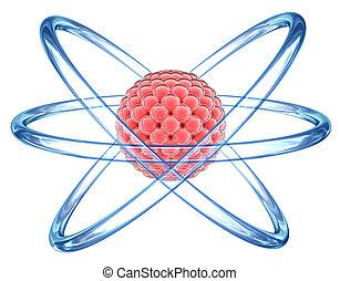 基本, 3d, -, 微片, 原子