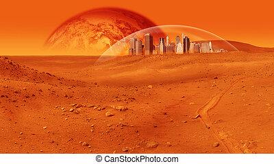 基盤, 火星