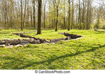堀, bayernwald, 木製である, 1, 世界, 戦争