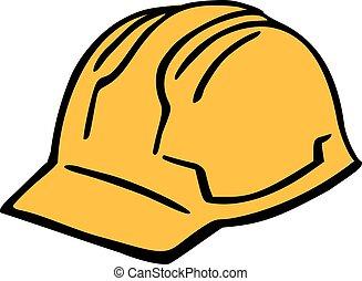 堅い 帽子