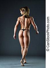 堅強的婦女, 身体建造者, 給予, 脊椎