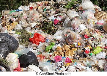 堆, 在中, 国内, 垃圾, 污染, 在中, 环境