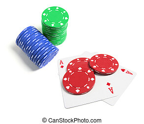 堆, ......的, 扑克片