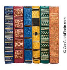堆, ......的, 老, 鮮艷, 書, 被隔离, 在懷特上