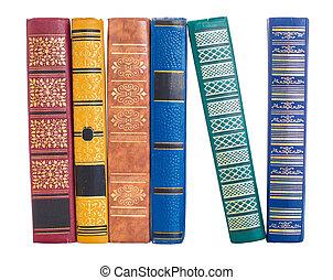堆, ......的, 舊的書, 被隔离, 在懷特上
