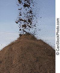 堆, ......的, 表層土